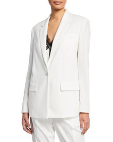 Jason Wu One-Button Satin Back Crepe Jacket