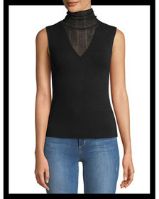Theory Faux Double-Layer Sleeveless Shell Refine M