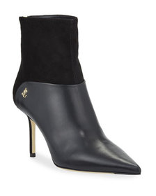 Jimmy Choo Beyla Mixed Leather and Suede Booties
