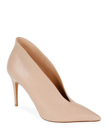 Valentino Garavani All Stitched V-Cut Leather Pump