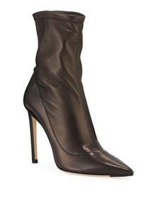 Jimmy Choo Brin Stretch Leather 100mm Ankle Bootie