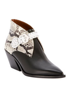 Givenchy Elegant Cowboy Ankle Booties