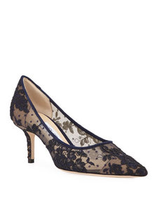 Jimmy Choo Love Pointed-Toe Lace Pumps