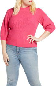 Leith Puff Sleeve Sweater (Plus Size)