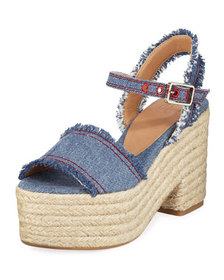Castaner Xena Denim Platform Sandals