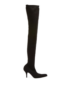 Balenciaga Sock-Knit Over-the-Knee Boots
