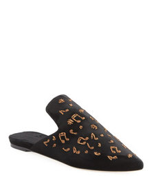 Sanayi313 Puccini Embroidered Slipper Mule