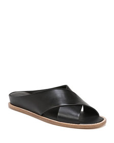 Vince Fairley Leather Wedge Sandals