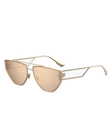 Dior DiorClan2 Metal Rectangle Sunglasses