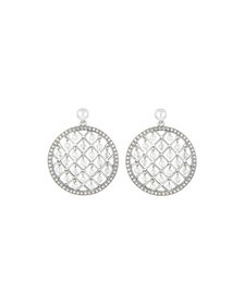 Oscar de la Renta Mini Pearly-Lattice Drop Earring