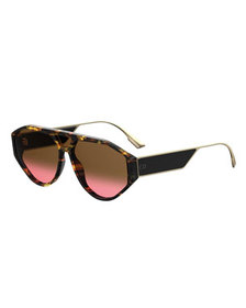Dior Dior Clan1 Oval Acetate & Metal Sunglasses