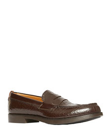 Burberry Men's Emile TB-Embossed Leather Penny Loa