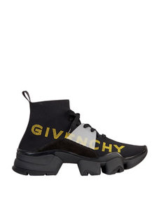 Givenchy Men's Jaw Sock Sneakers w/ Logo Embroider