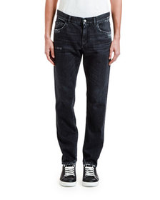 Dolce & Gabbana Men's Straight-Leg Distressed Jean