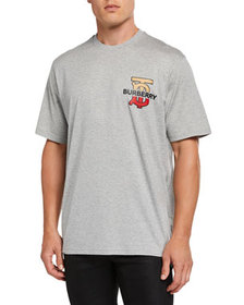 Burberry Men's Gately Logo Graphic T-Shirt, Gray