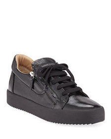 Giuseppe Zanotti Men's Updated Double-Zip Patent S