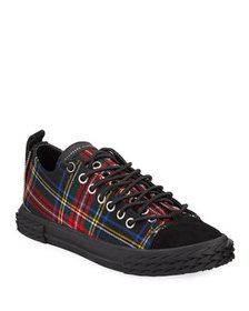 Giuseppe Zanotti Men's Blabber Low-Top Plaid Sneak