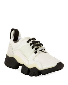Givenchy Men's Jaw Mixed-Media Chunky Sneakers