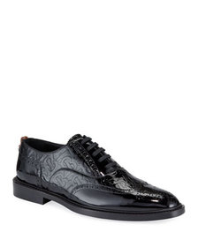 Burberry Men's Lennard TB-Embossed Leather Oxford
