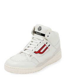 Bally Men's King Leather High-Top Sneakers