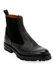 Bally Men's Geber Leather & Suede Side-Zip Boots