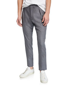 Marco Pescarolo Men's Heathered Wool Pleated Pants