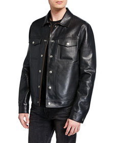 TOM FORD Men's Reversible Bonded-Leather Jacket
