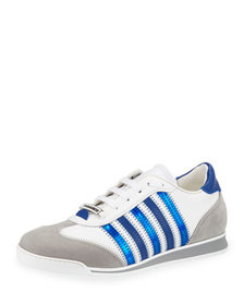 Dsquared2 Men's Contrast-Stripe Canvas & Leather S