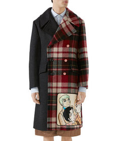 Gucci Men's Vintage Double-Breasted Wool Coat