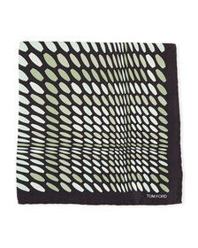 TOM FORD Dot Pattern Silk Pocket Square