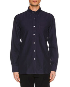 TOM FORD Men's Point-Collar Casual Button-Front Co