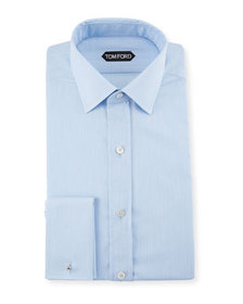 TOM FORD Men's Striped Spread-Collar Dress Shirt