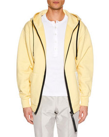 TOM FORD Men's Zip-Front Logo Hoodie
