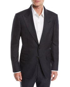 TOM FORD Shelton Peak-Lapel Check Two-Piece Suit