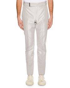 TOM FORD Men's Atticus Flat-Front Trousers