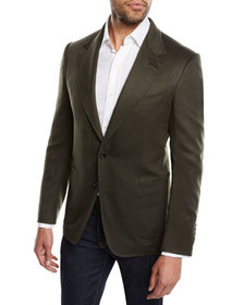 TOM FORD Men's Shelton Brushed Cashmere Cardigan J