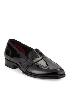 TOM FORD Taylor Patent Leather Penny Loafer, Black