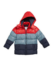Mayoral Boy's Colorblock Puffer Coat, Size 12-36 M