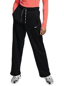 Nike Relaxed-Fit Drawstring Pants BLACK WHITE