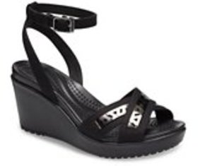 Women's Leigh II Cross-Strap Cutout Ankle Wedge