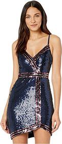 BCBGMAXAZRIA Multi Color Sequin Cocktail Dress