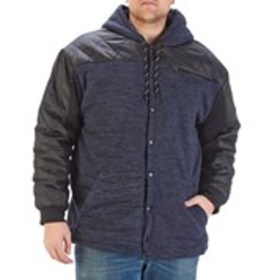 BLUE GEAR Big & Tall Hooded Fleece Jacket With Qui