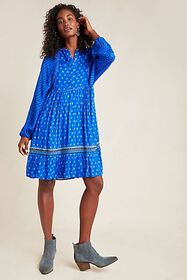 Anthropologie Coterie Embroidered Tunic