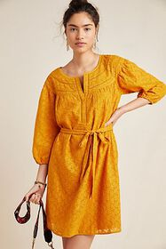 Anthropologie Treva Embroidered Tunic