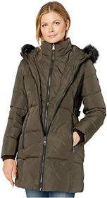 Vince Camuto Hooded Heavyweight Down with Faux Fur