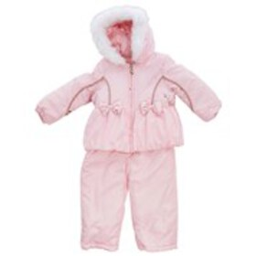 LONDON FOG Baby Girls Constellation Hooded Puffer
