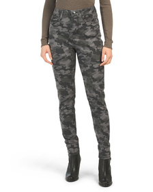 SEVEN7 High Rise Camo Printed Skinny Jeans