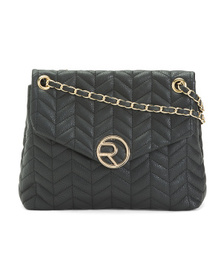 RAMPAGE Chevron Quilted Shoulder Bag