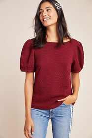 Anthropologie Parker Puff-Sleeved Top