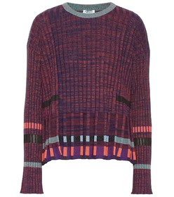 Kenzo Ribbed-knit cotton-blend sweater